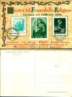 8809a)    Crtolina Maximum Filatelico Tematico-catania 2-2-64 - 6. 1946-.. Republic
