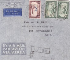 AIRMAIL CIRCULEE BELGISH CONGO TO PARIS. GAGNEZ DU TEMPS REPONDEZ PAR AVION BANDELETA.-TBE-BLEUP - Congo Belge
