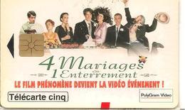 CARTE-PRIVEE-5U-GN126-GEMA-04/95-4 MARIAGES/ 1 ENTERREMENT-NSB-Bordures Legerement  Jauni-BE - France