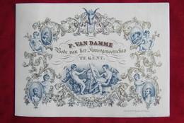 Gent - Porseleinkaart - P. Van Damme Bode Van Het Kunstgenootschap - Cartes De Visite