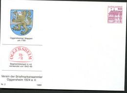 Bund PU115 C2/030 Privat-Umschlag SEGMENTSTEMPEL OGGERSHEIM 1980 - Post
