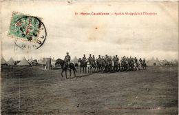CPA Casablanca- Spahis Sénégalais á L'Exercice. MAROC (669305) - Casablanca