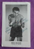 CARTE PUBLICITAIRE BOXE DEDICACEE: BEN BUKER, Campeon De Espana - Boxing