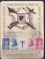 Carte Lettre Federale Journée Du Timbre 1943 Montpellier Bande Petain - Brieven En Documenten