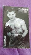 PHOTO BOXE DEDICACEE : Yvon MARIOLLE, Champion De France 1965, Poids Mi-moyen, Prof René BLANCHE, Studio Mari - Boxing