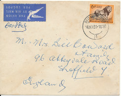 South Africa Cover Sent Air Mail To England 14-12-1959 - South Africa (...-1961)