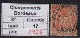 Chargements Bordeaux - Gironde - Type Sage - Marcophilie (Timbres Détachés)