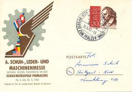 Germany Berlin Special Postcard 12-5-1961 6.Schuh-,Leder-und Maschinenmesse With Friedrich Von Schiller Stamp - [5] Berlin