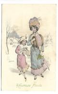 FEMME Et ENFANT - Illustrateur VIENNE Série 730 - Vienne