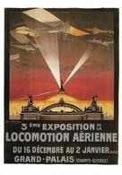 Affiche 3ème Exposition Locomotion Aérienne Grand Palais (2 Scans) - Airplanes