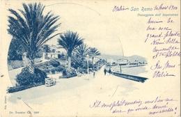Cpa SAN REMO (Italie) - 1900 - Passegiata Dell' Imperatrice - Dr Trenkler Co 5507 - San Remo