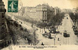 PARIS 5è - FF Fleury - Boulevards Arago Et Du Port Royal - Vue Panoramique - (tramway Et Omnibus) - District 05