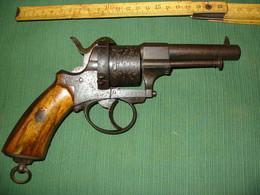 Ancien Revolver A Broche Belge - Armes Neutralisées