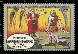 Old German Poster Stamp Cinderella Reklamemarke Erinnofili Publicité Vignette Richard Wagner Opera, Siegfried - Music