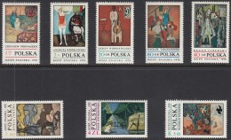 POLEN 2032-2039, Postfrisch **,  Tag Der Briefmarke: Moderne Malerei 1970 - Unused Stamps