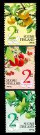 2014 Finland - Fruits Of The Garde  / Obst Vom Garten - Set Of 3 V S.adhesive - MNH** MI 2293-2295 - Fruits