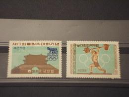 COREA SUD - 1960 GIOCHI ROMA 2 VALORI - NUOVI(++) - Corea Del Sud