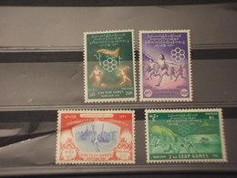 BIRMANIA-BURMA- 1961 GIOCHI ASIATICI 4 VALORI - NUOVI(++) - Myanmar (Burma 1948-...)