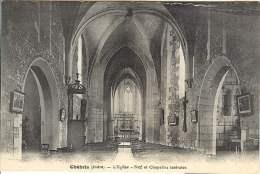 Chabris - L'Eglise - Nef Et Chapelles Laterales - Frankrijk