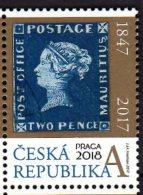 2017 Czech Rep.  Blue Mauritius - Stamp On Stamp Praha 2018 - 1v - MNH** MI 940  (üü18) - Tschechische Republik