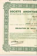 Obligation Ancienne - Sté Anonyme D'Ougrée-Marihaye - Titre De 1937 - N° 275578 - Actions & Titres