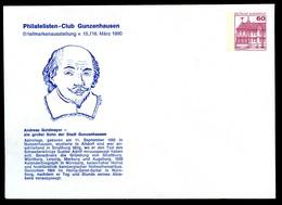 Bund PU115 D2/025 Privat-Umschlag ASTROLOGE ANDREAS GOLDMAYER Gunzenhausen 1980 - Astrologie