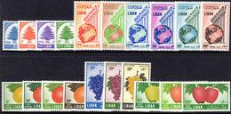 Lebanon 1955 Set Fine Lightly Mounted Mint (Tone Spots). - Lebanon