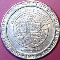 $1 Casino Token. Gold Mine, Black Hawk, CO. 1991. D83. - Casino