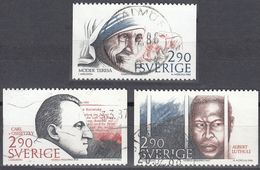 SVERIGE - SVEZIA - SWEDEN - 1986 - Lotto 3 Valori Obliterati: Yvert 1396, 1397 E 1399. - Schweden