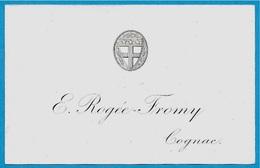 Etiquette Ancienne 16 COGNAC Charente E. ROGEE-FROMY  * Héraldisme - Labels