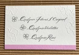 CC Carte Parfummée 'HOUBIGANT' QUELQUES FLEURS Perfume Card - Modernes (à Partir De 1961)