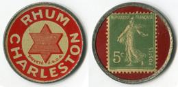 N93-0487 - Timbre-monnaie Rhum Charleston - 5 Centimes - Kapselgeld - Encased Postage - Monedas / De Necesidad