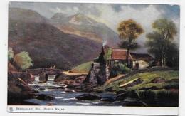 (RECTO / VERSO) NORTH WALES EN 1904 - BEDDGELERT MILL  - Ed. OILETTE  - BEAU CACHET ET TIMBRE - CPA VOYAGEE - Pays De Galles