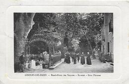 11)  GINOLES  Les  BAINS -  Rond Point Des Sources - Buvette  - Gros Platanes - France