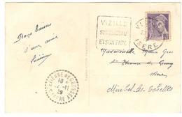 2266 - VIZILLE - Poststempel (Briefe)