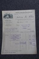Facture Ancienne, LYON La Mouche - Huiles Et Graisses Industrielles ( AUTO OIL) , Antoine LA SELVE. - Cars