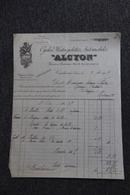 "Facture Ancienne, COURBEVOIE - Cycles, Motocyclettes Et Automobiles ""ALCYON"". - Cars"