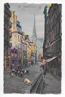 75  -  CPA  Colorisée  De  PARIS  En  FLANANT  -  Rue  Du  Haut  Pavé  (  Animée  ) - Autres