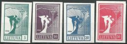 LITAUEN 1990 Mi-Nr. 457/60 ** MNH - Lithuania