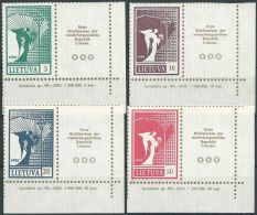 LITAUEN 1990 Mi-Nr. 461/64 ** MNH - Lithuania