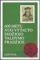 LITAUEN 1993 Mi-Nr. Block 3 ** MNH - Lithuania