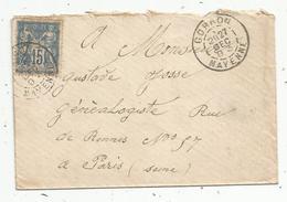 Lettre ,1893 , GORRON , Mayenne - Storia Postale