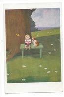 9808 -  Enfant Et Chien Sur Un Banc WSSB 5843 - Fantaisies