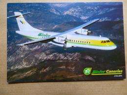 AIRLINE ISSUE / CARTE COMPAGNIE    BINTER CANARIAS   ATR 72 - 1946-....: Ere Moderne