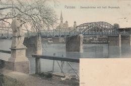 Passau - Donaubrucke Mit Heil.Nepomuk - Passau