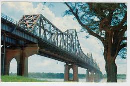 BATON  ROUGE       THE  MISSISSIPI  RIVER  BRIDGE              2 SCAN     (VIAGGIATA) - Baton Rouge