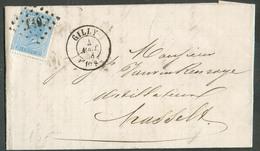 N°18 - 20c. Bleu, Obl; LP. 149 Sur Lettre De GILLY Le 4 Août 1868 Vers Hasselt - 12737 - 1865-1866 Profile Left