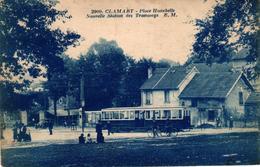CLAMART -92- PLACE HUNEBELLE NOUVELLE STATION DES TRAMWAYS - Clamart