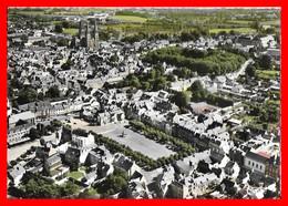 CPSM/gf (14) BAYEUX.  Vue Générale Aérienne, La Place Saint-Patrice..E049 - Bayeux