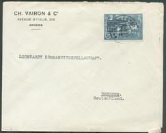 1Fr.75 Albert Indépendance, Perforé C. V. (charles VAIRON & Co) Obl. Sc ANTWERPEN 10 Sur Lettre Du 30-XII-1930 Vers Dres - Perfins
